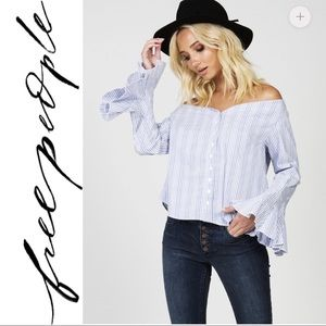 Free People March to the Beat Striped Top